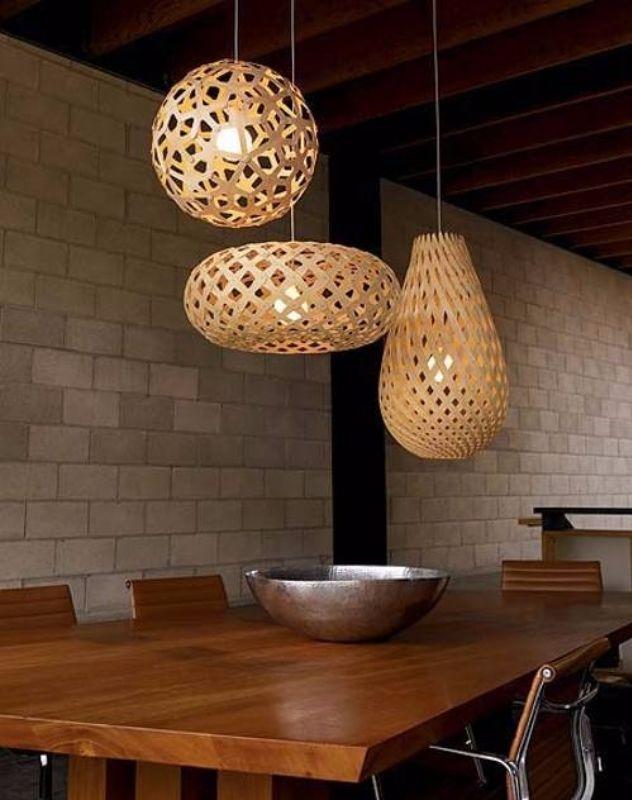 Idea price wazzadu - Apartment interior design ideas with black woven light fixtures ...