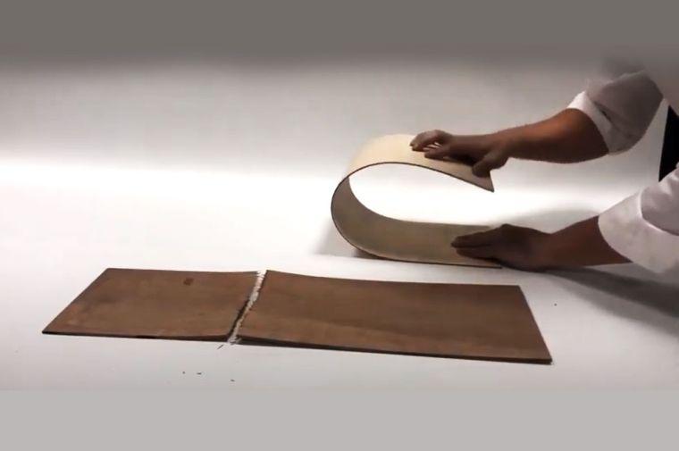 การทดสอบดัดโค้งไม้อัดดัดโค้งแบรนด์เข็มทิศ